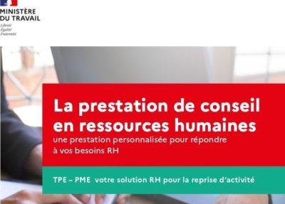 FAITES APPEL A LA PRESTATION DE CONSEIL EN RESSOURCES HUMAINES : JUSQUE 15 000€ HT PRIS EN CHARGE